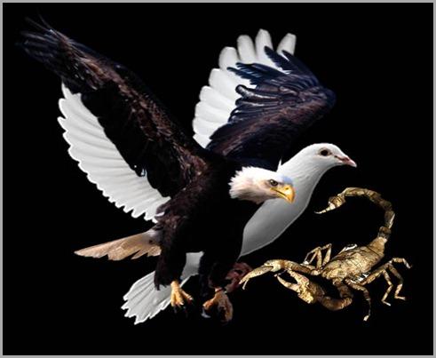 eagle dove scorpion
