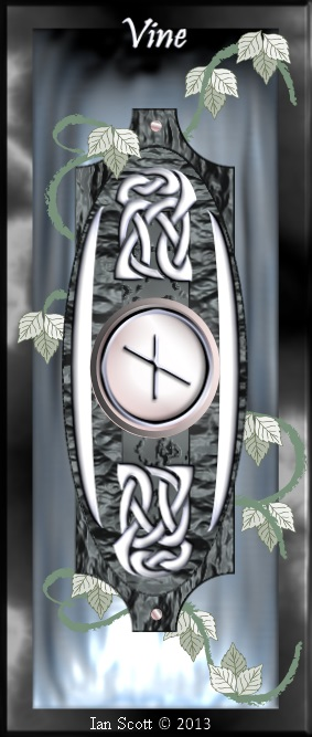 ogham meanings rune tablet vine